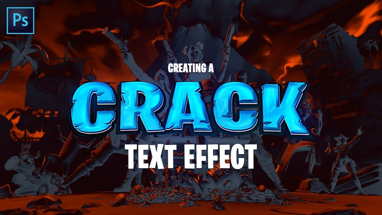 Cracked Gaming Text Effect
