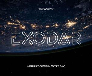 Exodar Futuristic Free Font