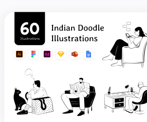 Indian Vector Illustrations Doodle