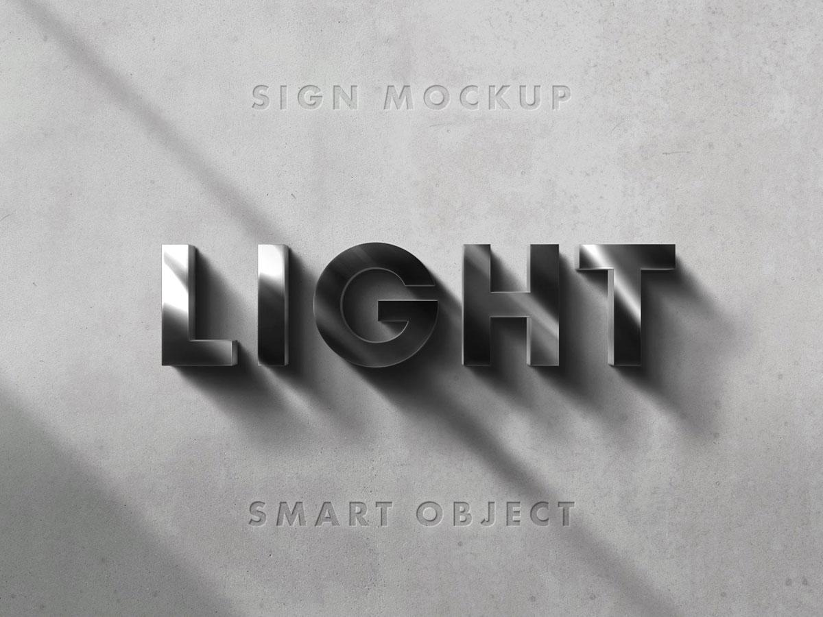 3D Sign Mockup