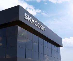 Corporate Building 3D Logo Mockup