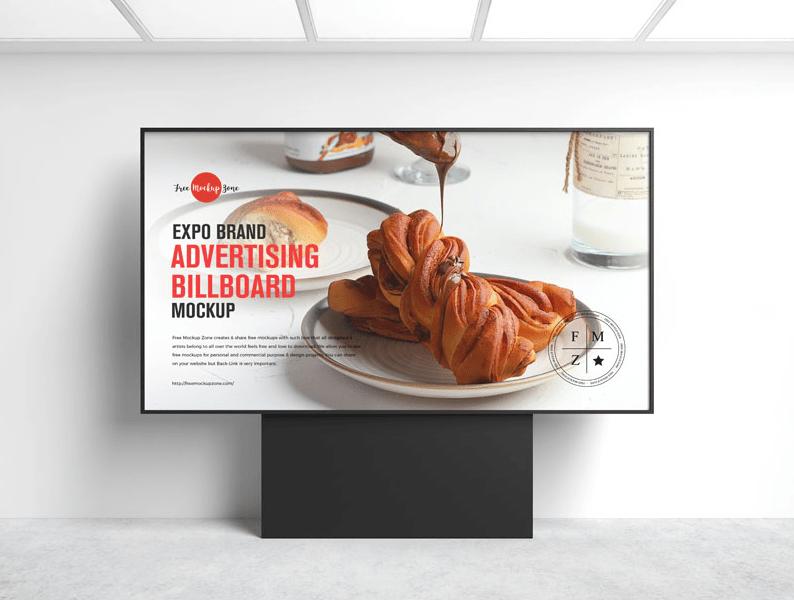 Exhibition Advertising Billboard Mockup