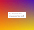 Four-Quadrant CSS-Only Gradient