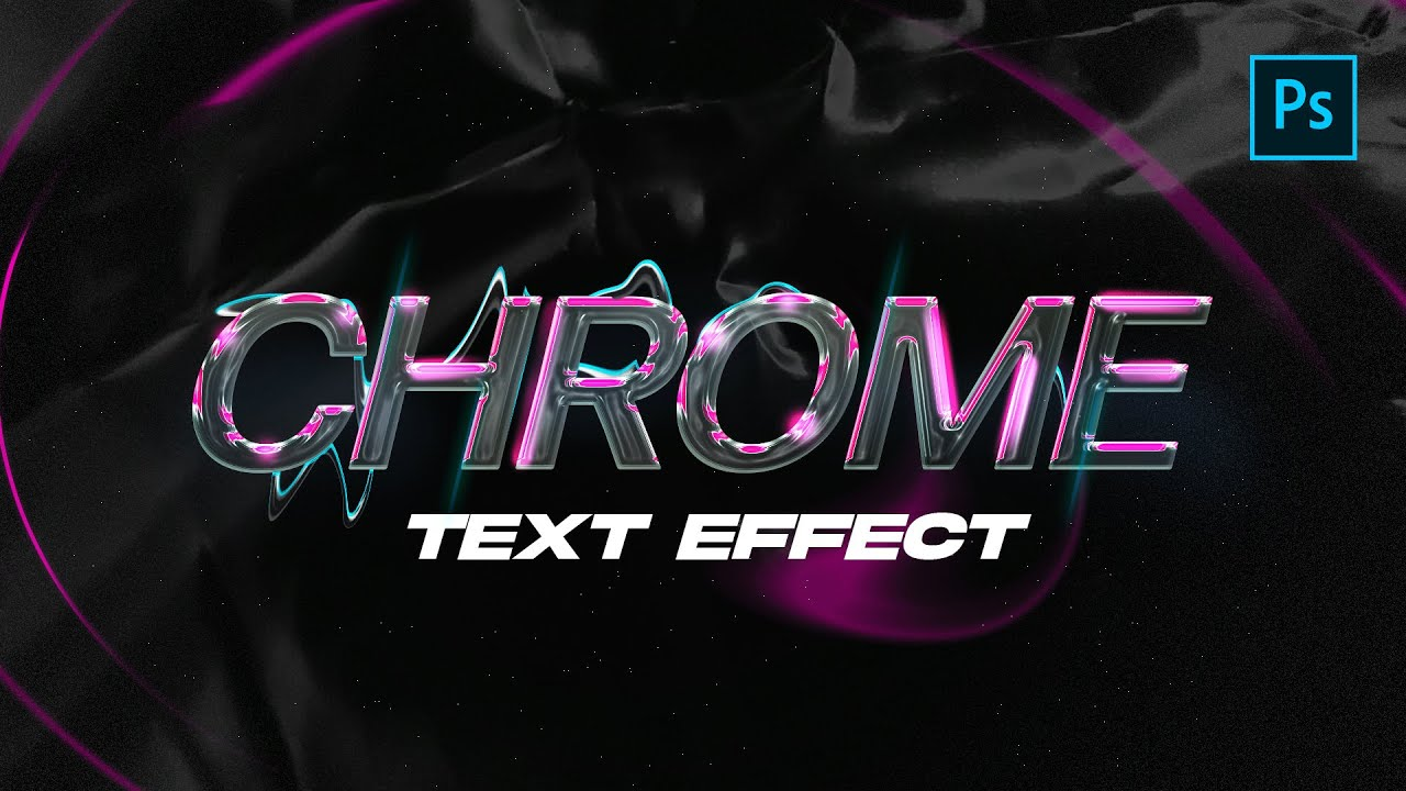 Modern Chrome Text Effect in Photoshop