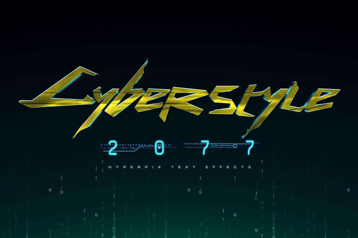 Cyberpunk 2077 Text Effect
