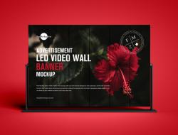 LED Video Wall Banner Mockup