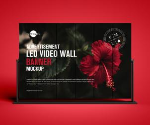 LED Video Wall Banner Mockup