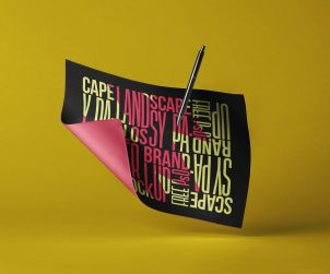 Landscape Brand Paper Mockup
