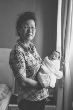 Amelia with grandma at home