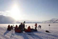 A 10 min break on the glacier.