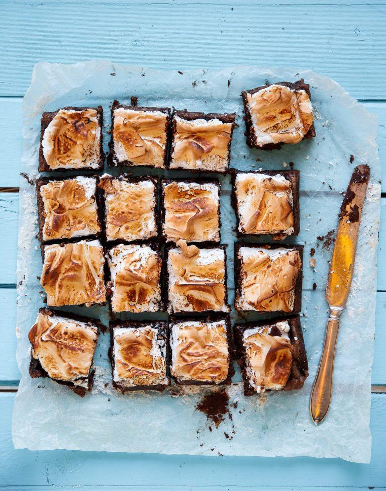 Chokladkaka med bränd Maräng