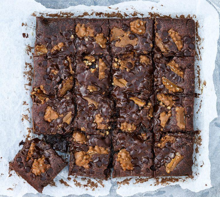 Brownies med dumlesnacks
