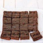 Fudge brownies center