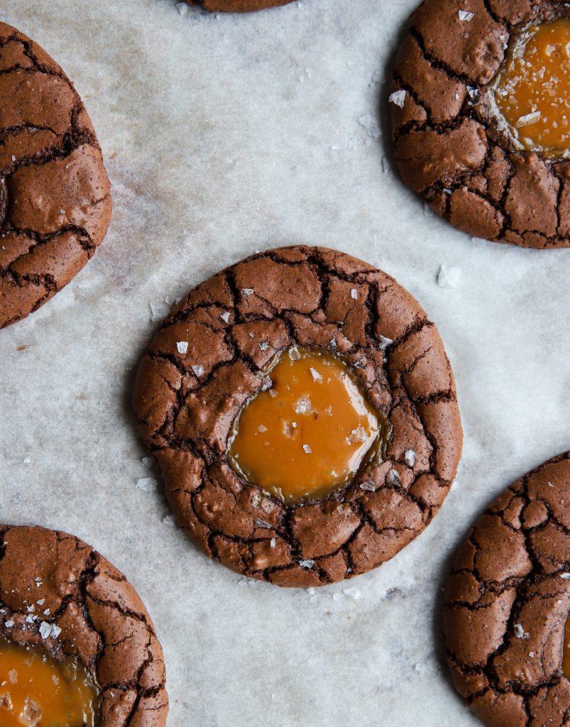 Glutenfria Kladdkakecookies med kola