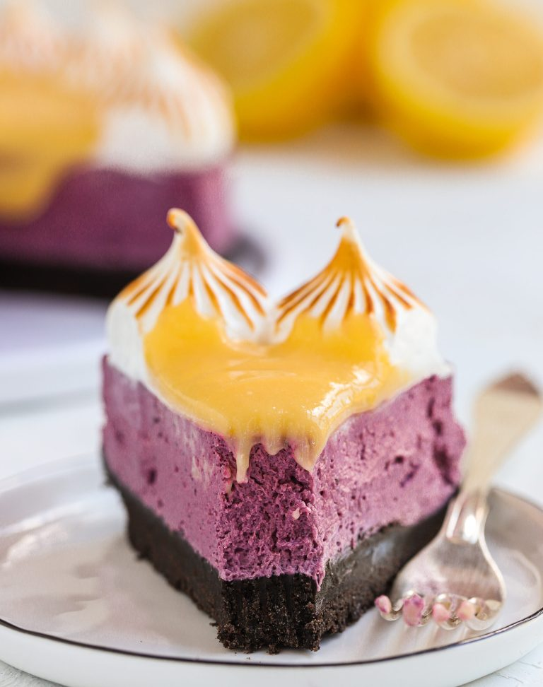 Blåbärscheesecake med citron