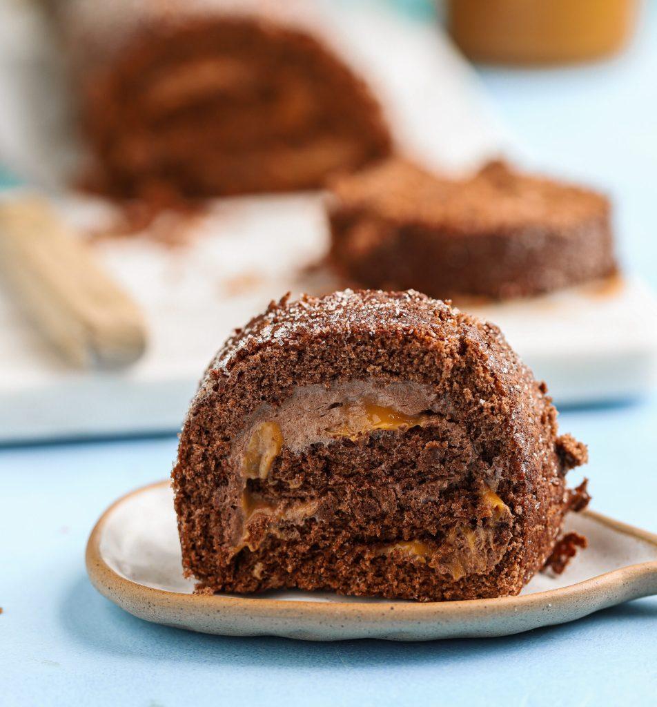 Chokladrulltårta med kola