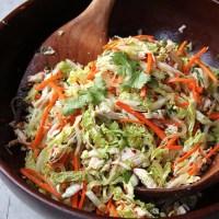 ქათმისა და ბოსტნეულის სალათი