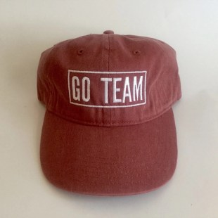 "maroon hat ""go team"" game day apparel comfort colors baseball cap"