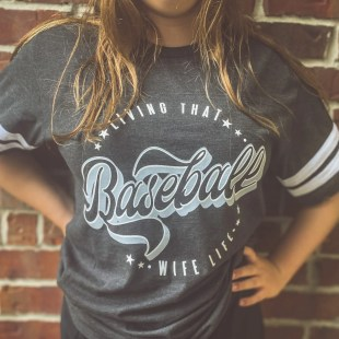tshirt game day baseball coach's wife