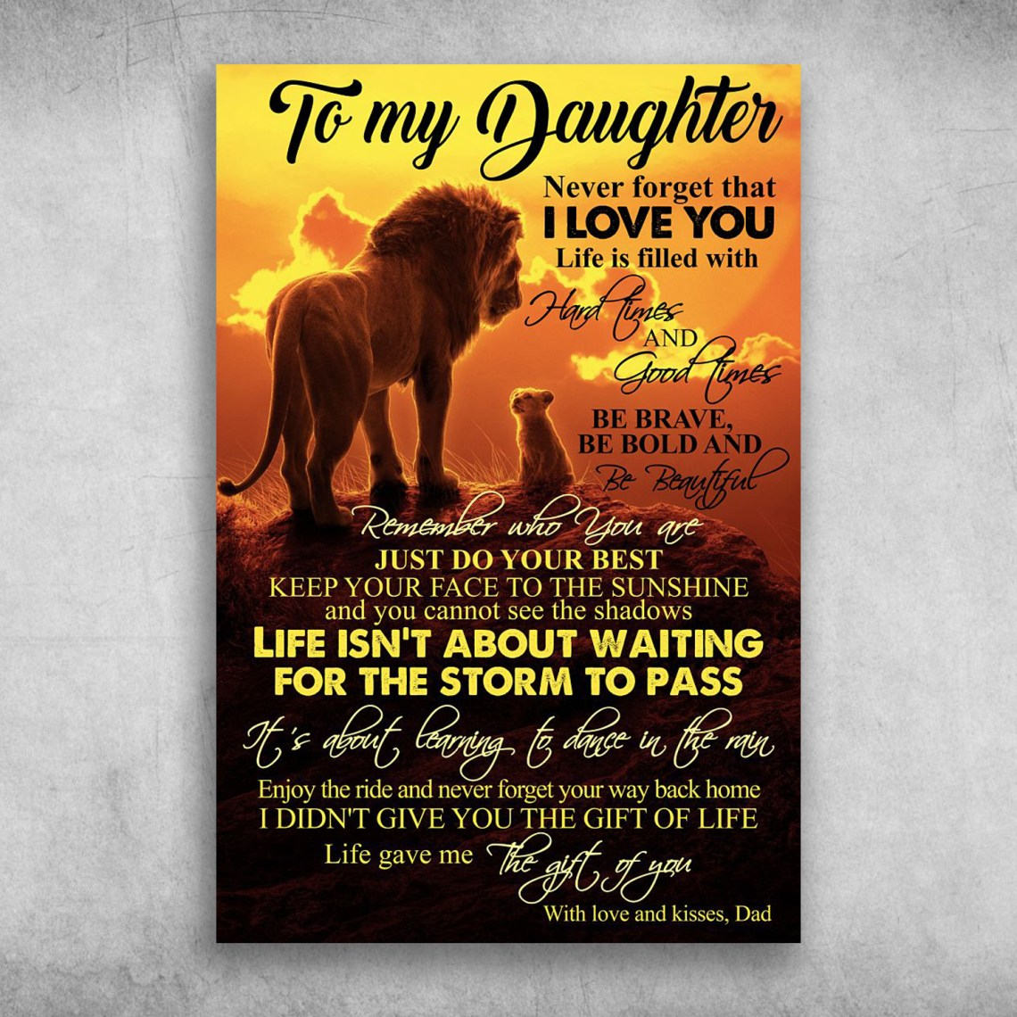 Download To My Daughter Never Forget That I Love You, Lion King ...