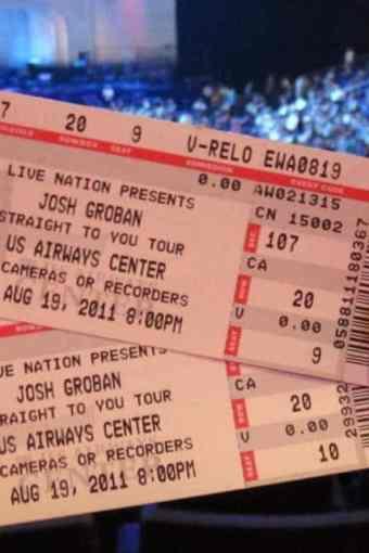 Josh Groban, not a bad first concert