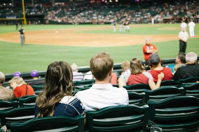 Go to a baseball game- creative date idea