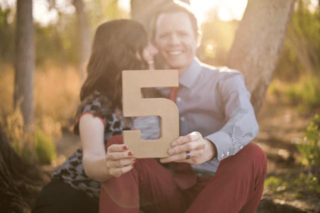 photo shoot 5th wedding anniversary