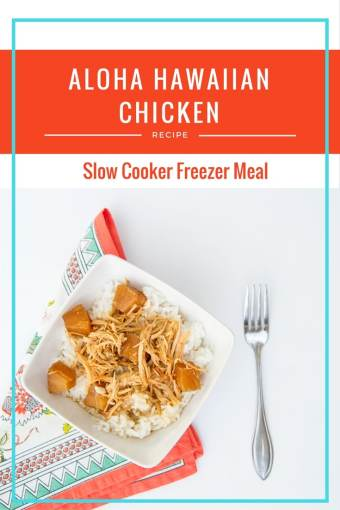 One Meal Now One Meal Later: Crockpot Aloha Hawaiian Chicken