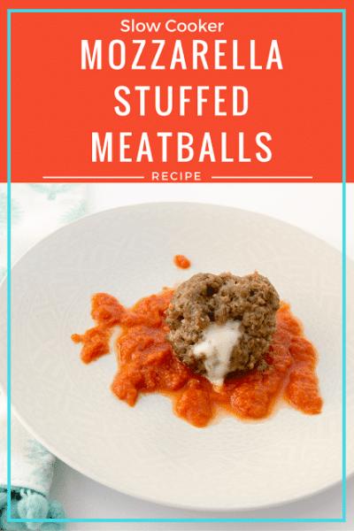 Mozzarella Stuffed Meatball Recipe: Crock Pot Freezer Meal