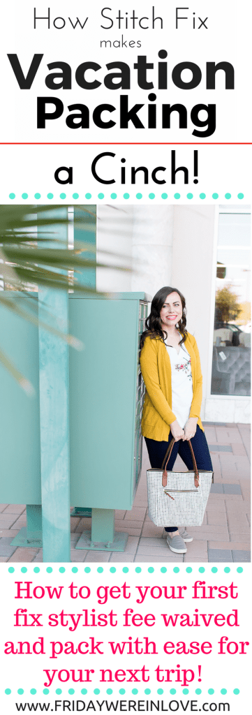 Need help vacation packing for that next romantic getaway or cruise? I'm sharing how Stitch Fix makes vacation packing a cinch!