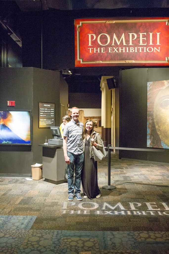 A unique date night idea with a one of a kind experience at the Pompeii Exhibit