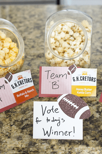 The Perfect Game Day Food for a Couple's Party
