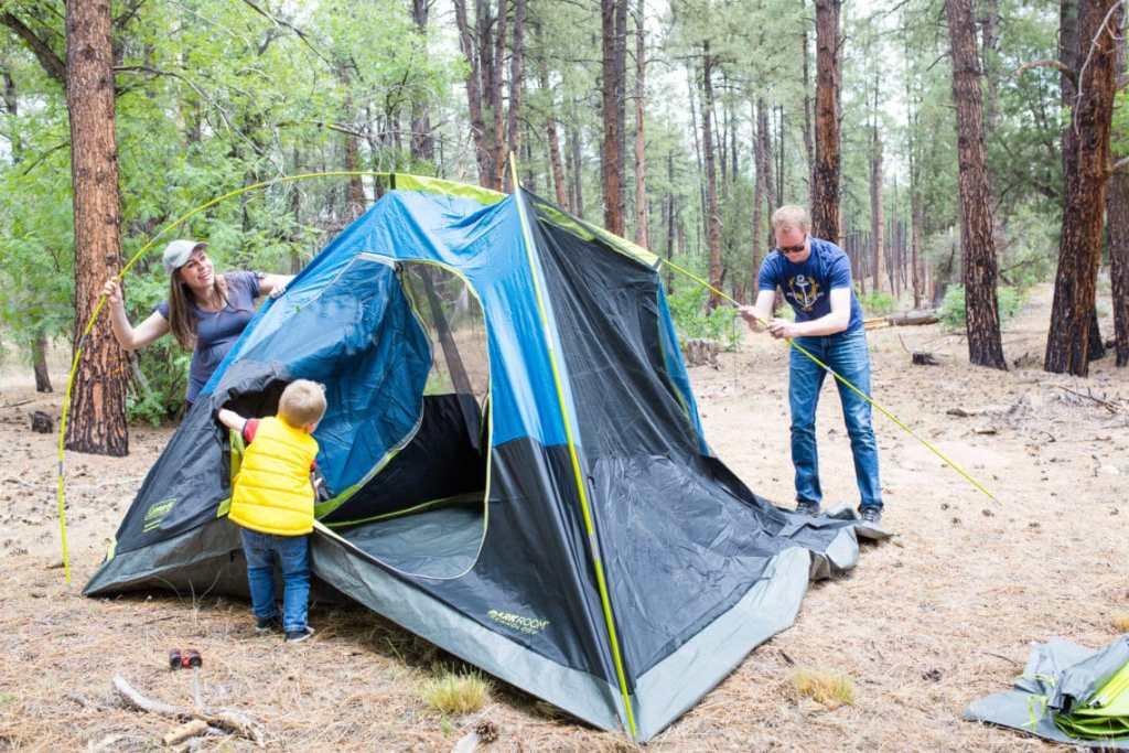 Easy weekend camping trip