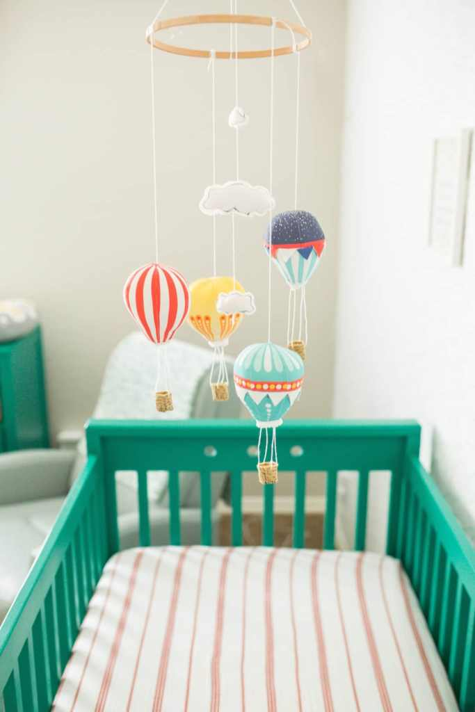 Modern nursery: Modern green crib