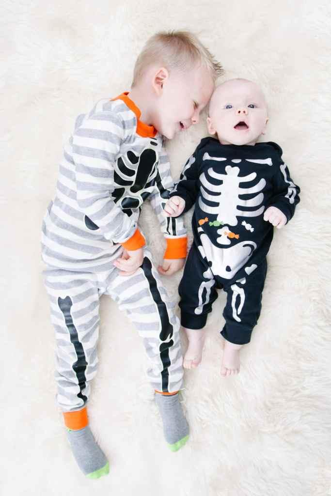 Skeleton pajamas for kids