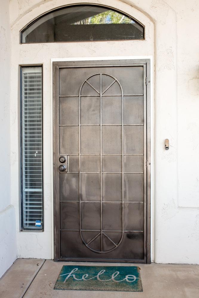 Front door makeover before