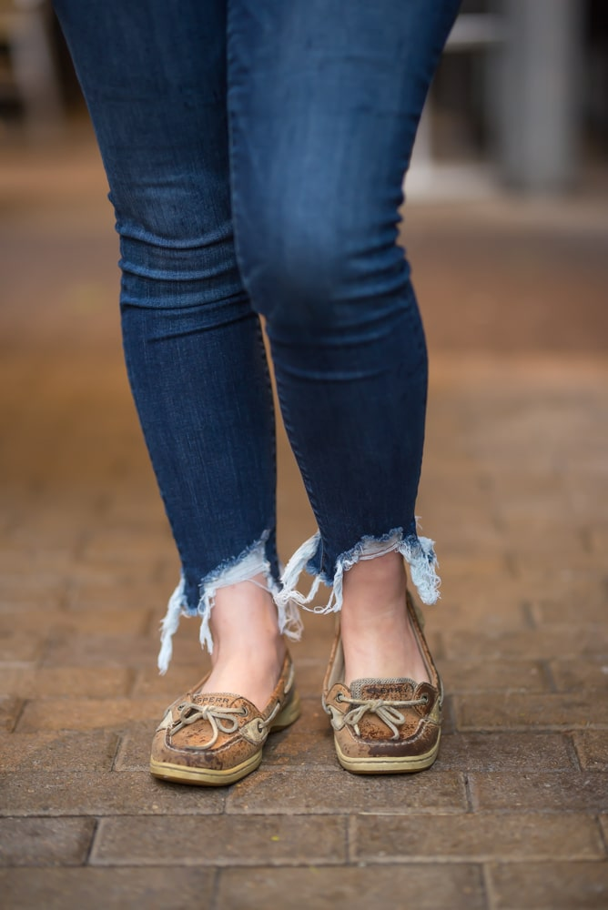 Affordable distressed jeans for women