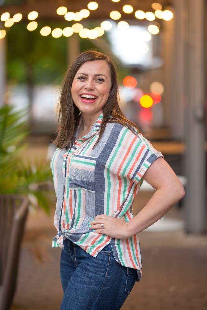 Rainbow striped shirt