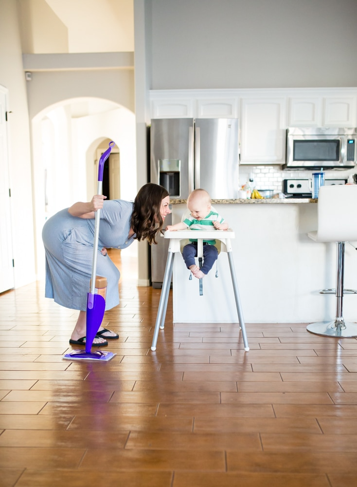 Cleaning tips when you have a mobile baby