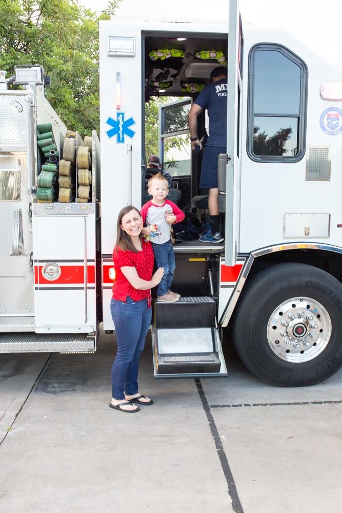 Fire station visit field trip