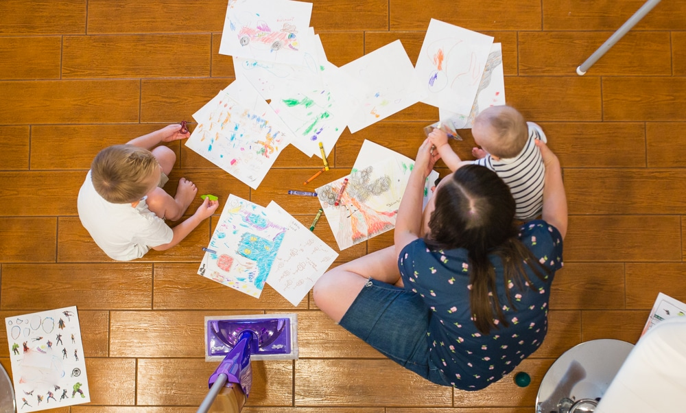 messy kids and summer break