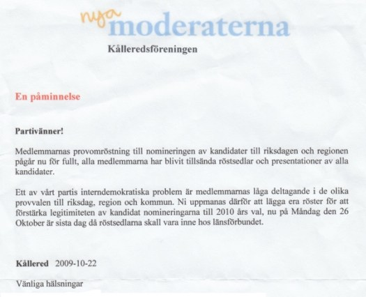 Brev från moderaterna