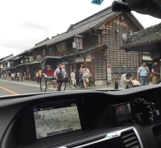 Rickshaw from the car @ Kawagoe