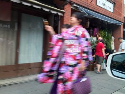 Girl in Nagasode in Kawagoe