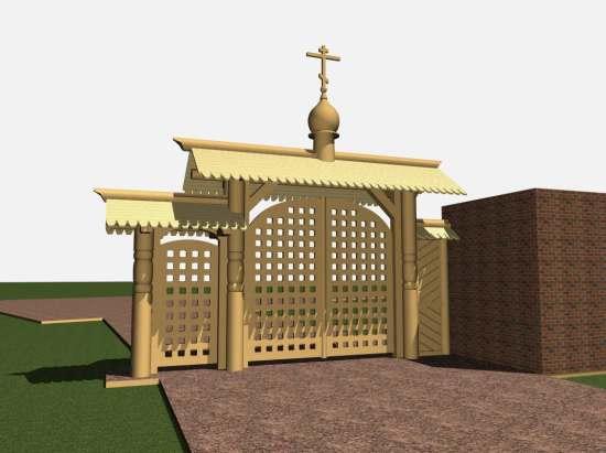 3D модель ворот