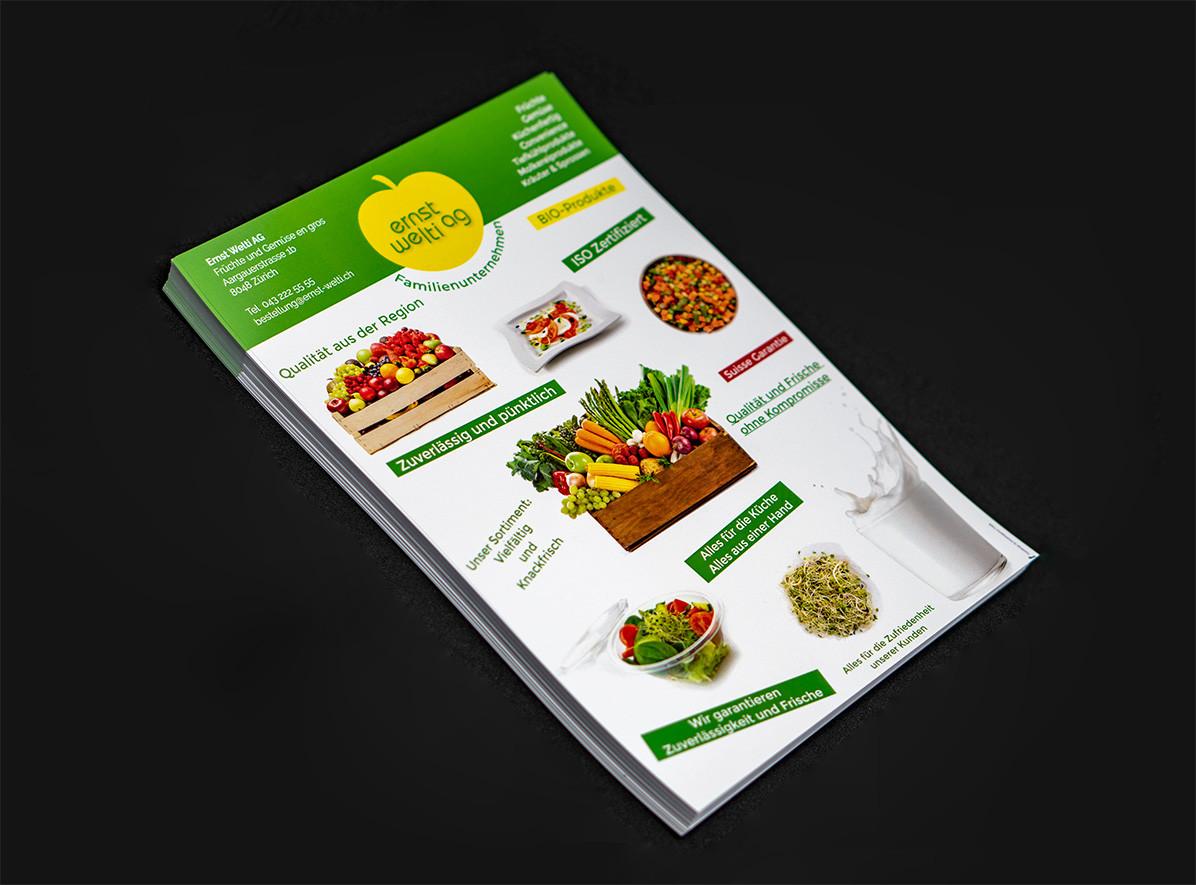 Flyer Design - Print Design und Druck für Ernst Welti AG