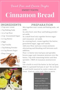 Cinnamon Bread Recipe Card Blog Graphic