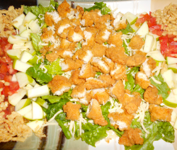 Barbeque Fried Chicken Salad Recipe