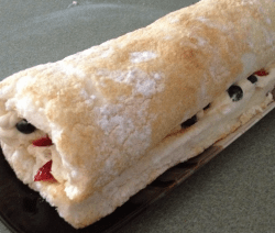 4th of July Angelfood Cake Roll Recipe