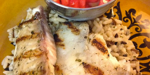 Grilled Fish with Watermelon Salsa Recipe